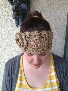 Chunky Lacy Reversible Crochet Headband