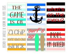 Free Chip Off The Old Block Printable from Paper Issues {store checkout required}