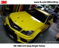 3M Scotchprint Wrap Film 1080-G15 Gloss Bright Yellow  #3M1080 #3M #CarWrap #vinylwrap #AMG — in Singapore, Singapore.