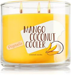 Mango Coconut Cooler 3-Wick Candle - Home Fragrance 1037181 - Bath & Body Works