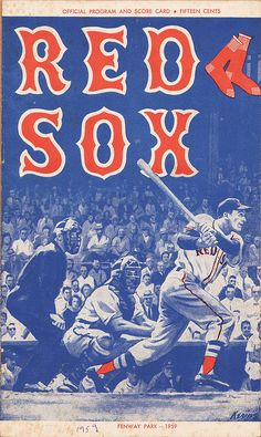 1959 Red Sox Program