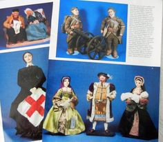 6p History Article + Color Pics -  VTG Bernard Ravca Real People Dolls ~~Dolls to search for!!! Does anyone have a soldier or Nurse (?) to sell??