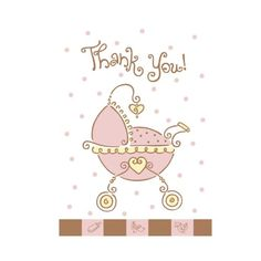 #manythings 8 #Baby Joy #Pink Thank You Note