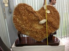 Huge citrine heart!     Www.cathedralgeodes.com