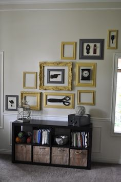 What do you think of the new empty #frame decorating idea? Sometimes frames don't need pictures in them to be art!