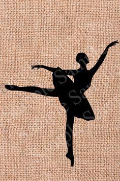 Ballet Digital Printable Vintage Ballerina INSTANT by BridalBust