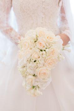 Rose cascading bouquet: http://www.stylemepretty.com/destination-weddings/2015/04/17/lavish-sicilian-destination-wedding/ | Photography: French Grey - http://frenchgreyphotography.com/