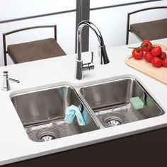 Buy The Elkay Larger Bowl Right Direct. Shop For The Elkay Larger Bowl  Right Gourmet E Dock X Undermount Double Bowl 18 Gauge Stainless Steel  Kitchen Sink ...