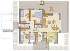 แบบบ้านสไตล์รีสอร์ท ไม้และอิฐโชว์แนว ส่วนผสมที่ลงตัวบนความงดงาม   NaiBann.com Bungalow House Design, Resort Style, Floor Plans, How To Plan, Interior, Craft, Home Plans, Bungalow Floor Plans, Indoor