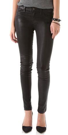 J Brand 915 Waxed Legging Jeans.
