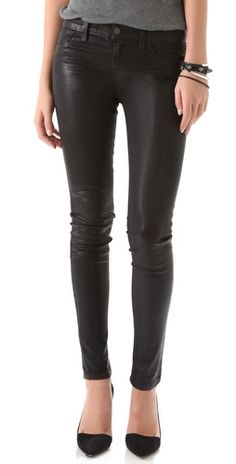 jbrand waxed legging jeans