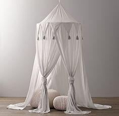 Cotton Voile Play Canopy--- instead of a tee pee?