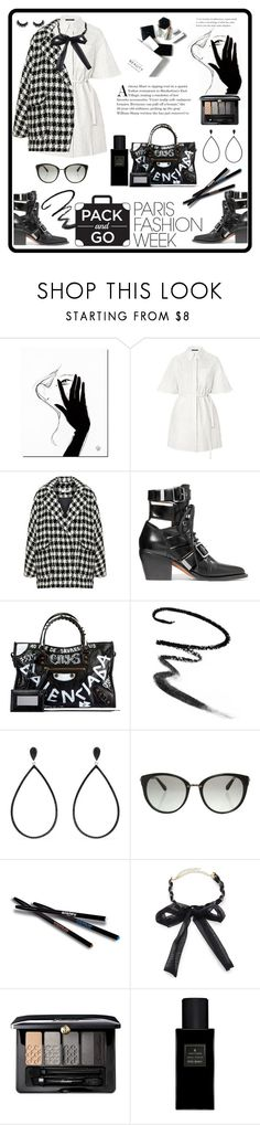 """""""pack and go: Paris Fashion Week"""" by kanares ❤ liked on Polyvore featuring H&M, Bohème, Chloé, Balenciaga, Maybelline, Effy Jewelry, Michael Kors, Sisley, Ettika and Guerlain"""
