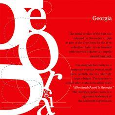 A tribute to Georgia Typeface.