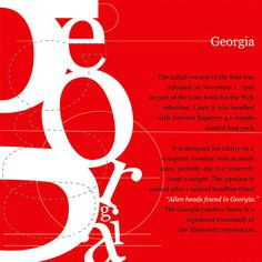 A tribute to Georgia Typeface.