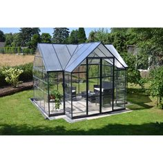 Palram 10 ft. x 12 ft. Garden Chalet Greenhouse-702422 - The Home Depot