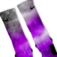 Purple Storm Customized Nike Elite Socks – Fresh Elites