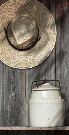 A Simpler Thyme Crock & Straw Hat
