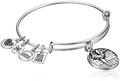 Alex and Ani Team USA Gymnastics Expandable Rafaelian Silver Bangle Bracelet -- Learn more by visiting the image link.(This is an Amazon affiliate link and I receive a commission for the sales)