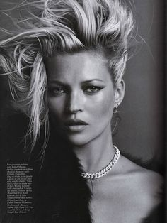 kate Moss. KATE moss. shes so fucking fabulous. the hair + the makeup + the look. LOVE.