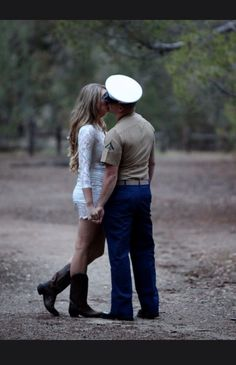 Military wife military engagement photos wedding dress blues love kisses military commitment