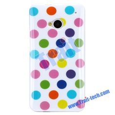   Colorful Polka Dots Case for HTC One M7