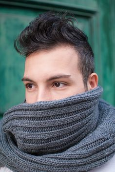 Dark eyed handsome guy with grey knitted scarf Savage, Outfit, Handsome, Guys, Dark, Crochet, People, Blog, Fashion
