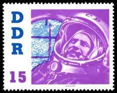 DDR Cosmonauts Visit stamp, issued December 1961