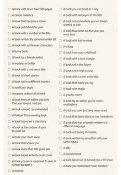 2015 Reading Challenge: See my pin for my list of books I read to complete this challenge :)