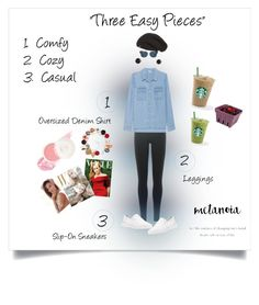 """#Comfy, Cozy, Casual Contest Entry...""Three Easy Pieces"""" by onesweetthing ❤ liked on Polyvore featuring DKNY, Splendid, MICHAEL Michael Kors, Tory Burch, UGG Australia, By Terry, Christian Dior, Artland and Irene Neuwirth"