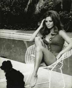 "Austrian-born British actress Jocelyn Lane in ""Lover's Lane"" seated on a #Bertoia Diamond Chair."