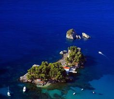Photo about Aerial view Panagias (Virgin Mary) island in Parga Greece - Part of the book the spirit of Parga. Image of island, helicopter, ionian - 3693659 Greek Sea, Greece Pictures, Greek Culture, Holiday Places, Paradise On Earth, Beautiful Places To Visit, Greek Islands, Greece Travel, Aerial View