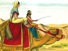 Abraham sends his servant to find a wife for Isaac. (Genesis 24:1-66): Slide 14