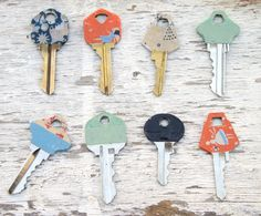 washi tape keys #washitape