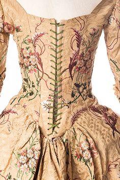 English silk brocade dress - 1789