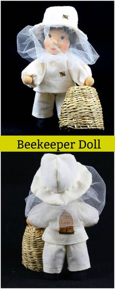 Bee-Keeper with Bee-Hive. sposnsored #ad #Etsy #beekeeper #bee #bees