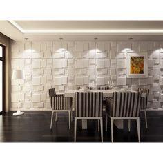 Instant Mosaic 3D Wall Cubes Wainscot Panels  #wainscoting, AccentHaus.com
