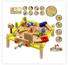 I'm Toy Wooden Activity Work Bench Great toy to keep tots busy
