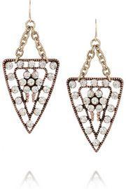 Lulu FrostGalaxy gold-plated crystal earrings