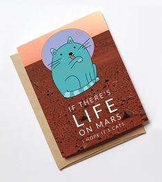 The ultimate cat lovers card for space geeks. ** insert your own joke here about it being out of this world! ** It also looks great framed on a