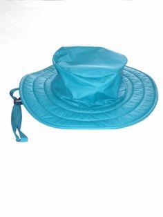 Unisex Womens Green  Lands End  wide brim rain hat w chinstrap sz S  Excellent 🤠 9837f9e8321a