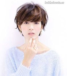 20 Best Short Hair with Bangs - 1 #ShortBobs