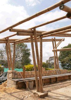 Diseño y construcción de estructura en Bambú Guadua en Anolaima - Cundinamarca - Colombia. Proyecto, construcción y dirección de obra: Bambusa Estudio