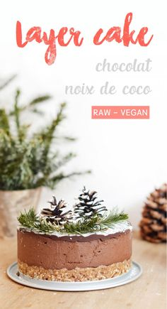 Right here is the dessert that I ready for my Christmas meal this yr: a chocolate – coconut layer cake, uncooked, vegan and gluten-free! Bolo Vegan, Vegan Cake, Raw Vegan, Desserts Végétaliens, Holiday Desserts, Dessert Recipes, Christmas Recipes, Holiday Cookies, Raw Food Recipes