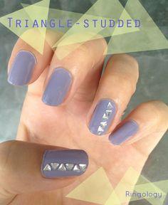 Nail art: Studded