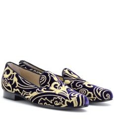 Etro Emroidered Velvet Smoking Shoe