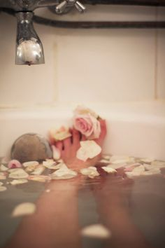 Once a week for 20 minutes, sit in a hot bath that contains a handful of Epsom salts, 10 drops of lavender essential oil, and a half cup of baking soda. This combo draws out toxins, lowers stress-related hormones, and balances your pH levels.  I am going to do this one tonight!