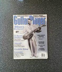 Guitar Player Magazine T-Bone Walker Cover Vintage 1995 Sheet