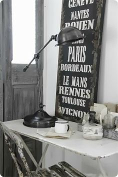 Parisian Font, Reclaimed Industrial Could work in Gold Metal BL/INKBAR