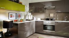 Kitchen With Glossy Surface Room Decorating Ideas amp; Home Kitchen Handles, Kitchen Knives, White Furniture, Kitchen Furniture, Kitchen Cabinets, Kitchen Appliances, Kitchens, Cork Flooring, Protecting Your Home